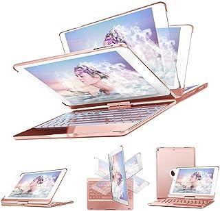 SENGBIRCH iPad Pro 10.5 Teclado Funda, Estuche Rígido con 360 Grados de Inteligente con 7 Colores Retroiluminado Inglés ...