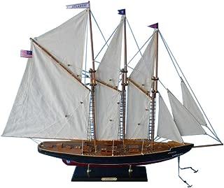 Hampton Nautical Wooden Atlantic Model Sailboat Decoration, 35