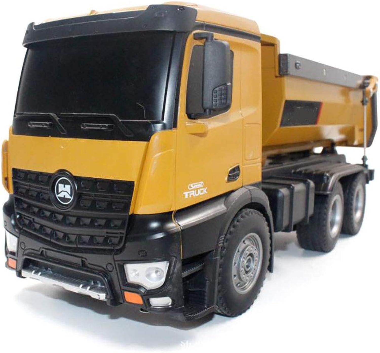 LIJUN Alloy Dump Truck 1 14 Neue Grokinder ferngesteuerte Spielzeug-Auto-Projekt-Loader