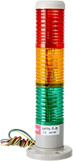 YXQ DC 24V Industrial Signal Warning Light Red Yellow Green LED Tower Lamp Stack with Base