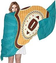 LORONA Bufanda de fútbol americano con emblema retro, para mujer, con sensación de seda, larga y ligera