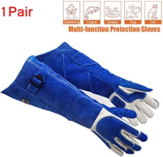 Sporting Style Scratch/Bite Resistant Protective Gloves- Animal Handling Gloves for for Bathing, Grooming,Handling Cats and Other Small Animals