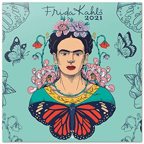 Calendario 2021 da Muro Frida Kahlo, calendario 2021 da muro vintage, 16 mesi, 30x30 cm