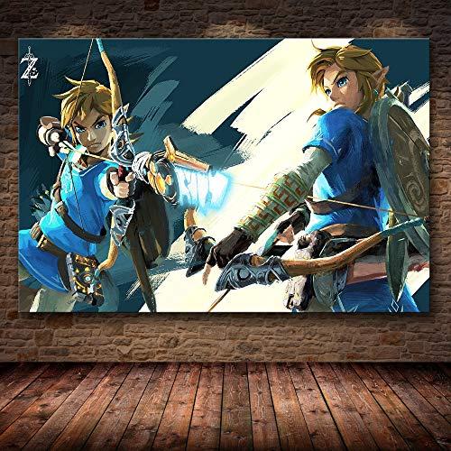 Puzzle 1000 Piezas Pintura del Juego The Legend of Zelda: Breath of The Wild Puzzle 1000 Piezas Gran Ocio vacacional, Juegos interactivos familiares50x75cm(20x30inch)