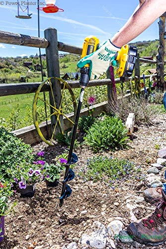 """Power Planter 100% USA Made 3""""x24"""" Extended Length Bulb & Bedding Plant Auger w/ 3/8"""" Hex Drive 3 100% MADE IN THE USA, with USA sourced materials. Made by family farmers for over 30 years for your garden *Patent Pending Design* Non-Slip hex drive"""
