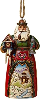 Jim Shore Heartwood Creek German Santa Stone Resin Hanging Ornament, 4.75""