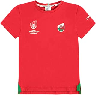 Wales Rugby World Cup 2019 Team Cotton T-Shirt Junior Boys Red Fan Top Tee Shirt