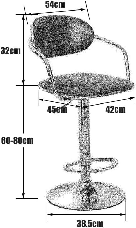 Fauteuil pivotant Tabouret Chaise de bureau Tabouret réversible, linge réglable en hauteur, 360 degrés de rotation, 6 couleurs Siège pivotant (Color : 6) 5