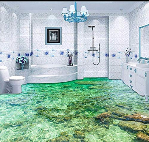 Yosot Tapete Custom Bodenbelag 3D Bodenbelag Malerei Schöne Meerwasser Ripple 3D Wohnzimmer Schlafzimmer Boden Malerei-140cmx100cm