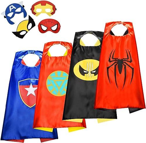 ATOPDREAM Cape de Super Heros pour Enfants - Cadeau de Vacances pour Enfants - Super Héros Habiller/Enfants Deguiseme...