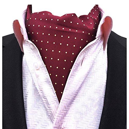 YCHENG Moda Hombre Pañuelo Jacquard Ascot Paisley Corbatas Banquete Regalo de San Valentín