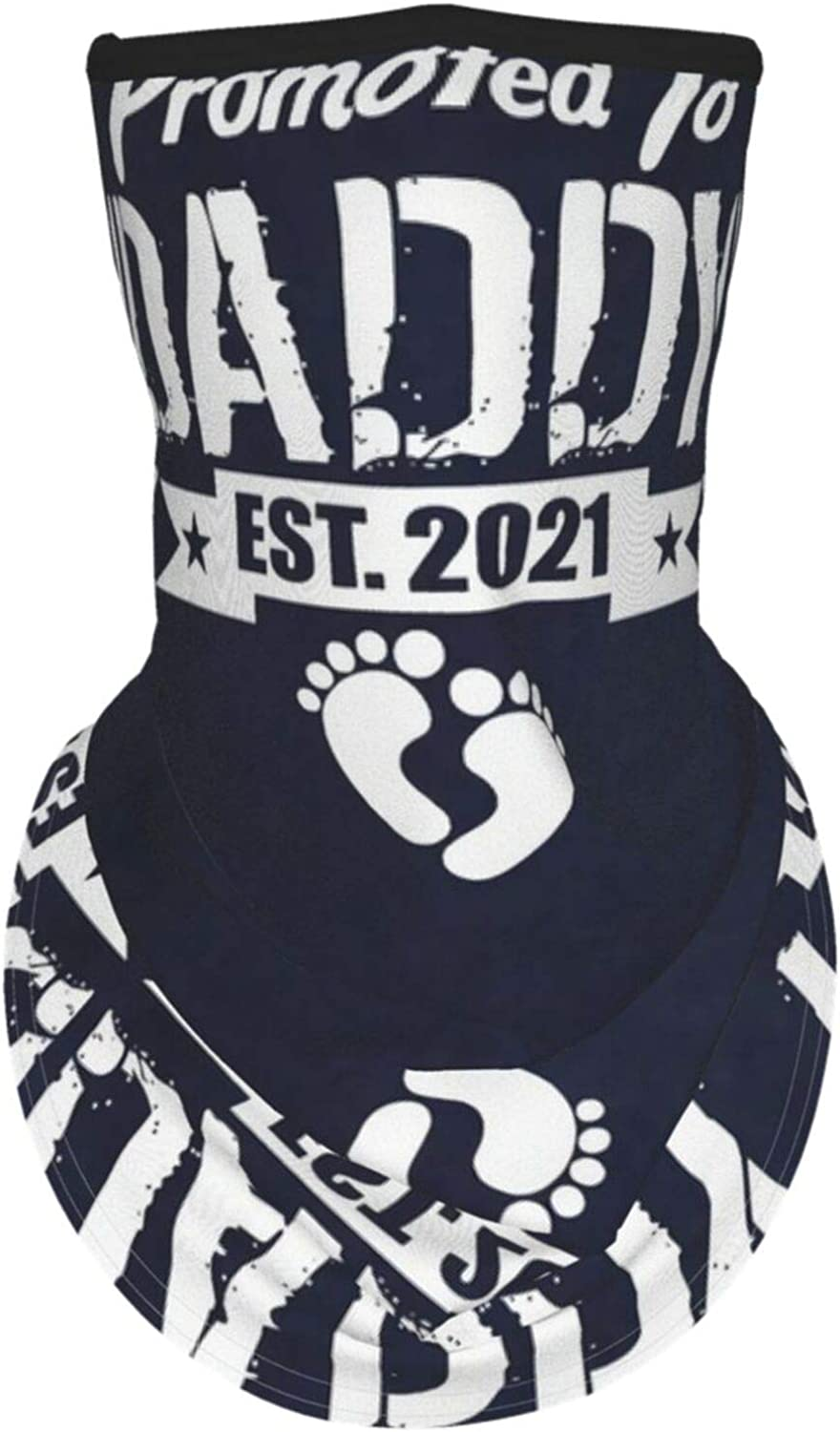 Ear Hangers Face Balaclava Promoted To Daddy Est. 2021 Navy Protective Cover Wristband Bandanas Neck Gaiter Dust-Proof,Anti-Pungent Gas,Washable