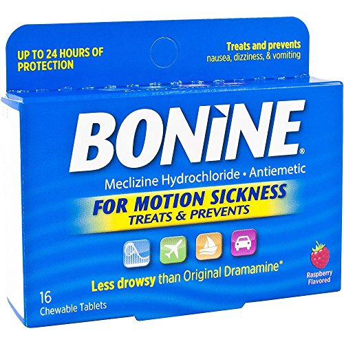 Bonine Motion Sickness Tablets-Raspberry-16 ct. (Pack of 2)