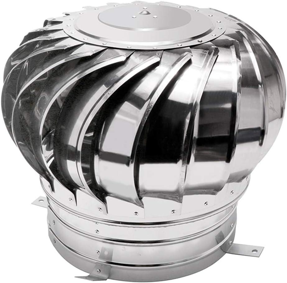 LTLCBB Sombrero Extractor de Humos Giratorio, 304 Acero Inoxidable Giratorio Cubierta de Chimenea de Humos para Base Redonda Sombrero de Chimenea,450mm