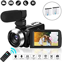 KOMERY 2.7K Video Camera for YouTube Vlogging Digital Camera Camcorder with Microphone 24MP 3.0 Inch 1080P 30FPS FHD 270 Degree Rotation Screen 16X Digital Zoom Webcam Video Recorder