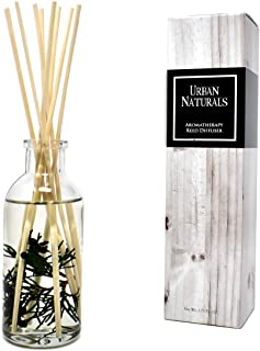 Urban Naturals Cranberry & Pine Holiday Wreath Reed Diffuser with Real Pine Needles | Holly Berry & Frosted Fir Needles | Home Gift Idea. Vegan.