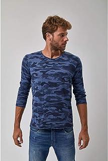 Tricot Pull Camuflado - Azul