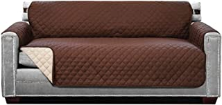 Best Sofa Shield Original Patent Pending Reversible Large Sofa Protector, Many Colors, Seat Width to 70 Inch, Furniture Slipcover 2 Inch Strap, Couch Slip Cover Throw for Pets, Dogs, Cats, Chocolate Beige Review