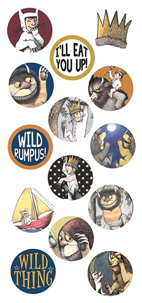 Paper House Productions STP-0064E Puffy Sticker, Where the Wild Things Are (3-Pack)