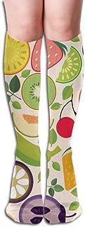 Calcetines de compresión Calcetines de tubo para correr Sport Fruit Novelty Sport, 1 par de 50 cm / 19,7 pulgadas