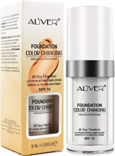 Color Changing Foundation, All-Day Flawless Foundation Makeup, BB Cream, Long Lasting, Invisible Pores, Base Nude Face Moisturizing Liquid Cover Concealer,Universal for ALL Skin Type (1PACK)