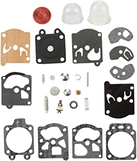 Venseri K10-WAT Carburetor Rebuild Kit Diaphragm Gasket with Primer Bulb Needle Repair Carb Kit for Carb STIHL Husqvarna McCulloch Echo Chainsaw Edger Trimmer