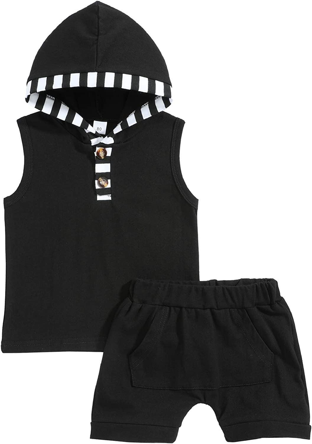 Yiner Toddler Baby Ranking TOP11 Boy Max 77% OFF Clothes Vest Tops Outfits Hoodie Striped