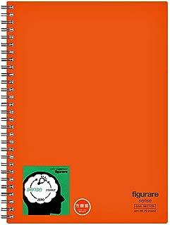アピカ ツインリングノート フィグラーレ センス 方眼罫 セミB5 SW151S-OR オレンジ