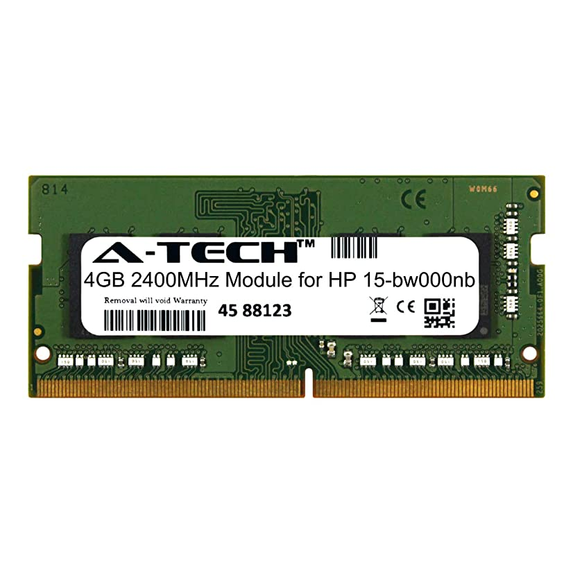 A-Tech 4GB Module for HP 15-bw000nb Laptop & Notebook Compatible DDR4 2400Mhz Memory Ram (ATMS381055A25824X1)