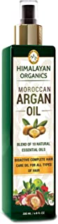 Himalayan Organics Moroccan Argan Oil for Hair Growth - No Parabens & Mineral Oil - 200ml