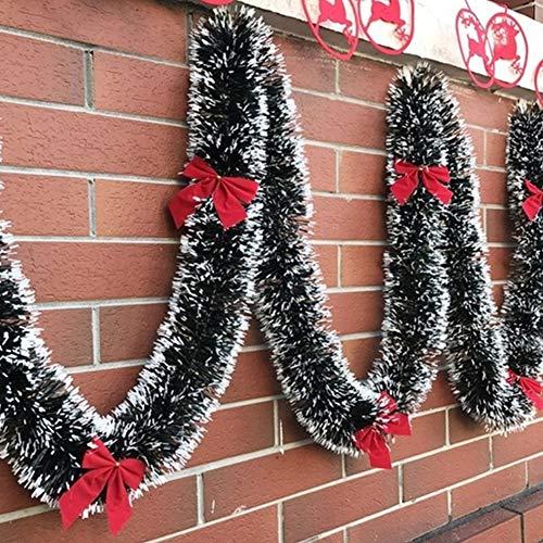 litty089 2M Party Bar Levering slinger boomversiering, band met strik, decoratie voor uw mooie kerst zilver