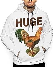Huge Cock Offensive Chicken Men's Hoodies Sweatshirt Sport for Men Long Sleeve Pullover Sportswear Pockets Thick Clothing