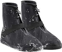 AZSCYN Rain Overshoes, Waterproof Rain Shoes Cover Boots for Women Men, All Season Reusable with Zippered Rain Boots for Garden, Park, Farm, Hiking.