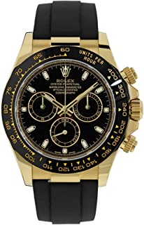 Rolex Cosmograph Daytona 40MM Black 18K Yellow Gold Mens Watch 116518LN