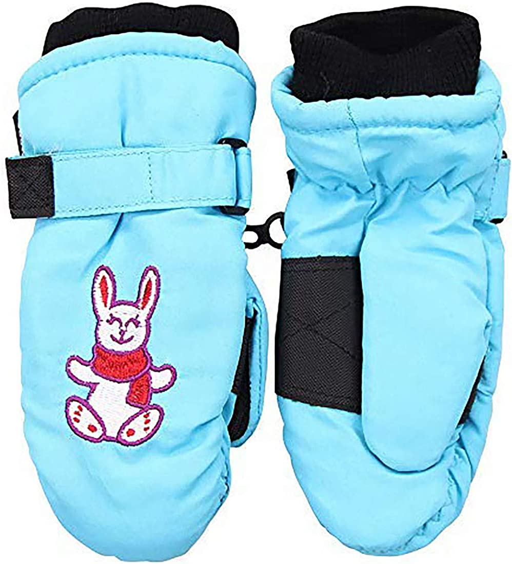 Toddler Kid's Waterproof/Thinsulate Lined Winter Mittens (Ages 2-4)