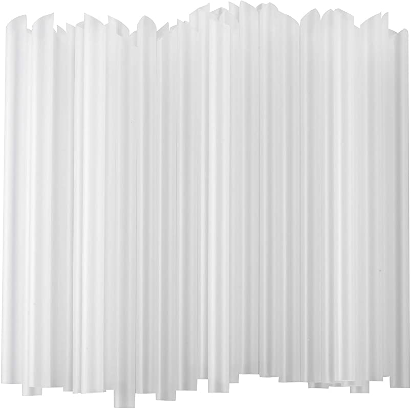 ALINK Extra Wide Clear Plastic Bubble Tea Smoothie Straws 1 2 Wide X 8 1 2 Long Fat Boba Milkshakes Straws Pack Of 100