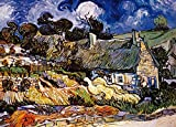 Powza 1000 Pieces Jigsaw Puzzle, Classic Oil Paintings - Thatched Cottage, Artwork Art Large Size Jigsaw Puzzle Toy for Educational Gift Home Decor(27.6 in x 19.7 in)