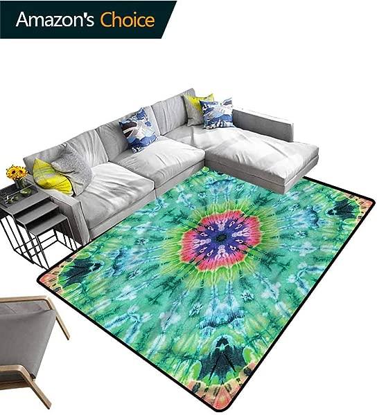 TableCoversHome Marble Geometric Floor Comfort Mats Ombre Art Pink Indigo Pattern Printing Rugs Easy Maintenance Area Rug Living Room Bedroom Carpet 2 X 6
