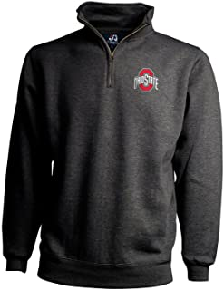 Elite Fan Shop Ohio State Buckeyes Classic Quarter Zip Sweatshirt Charcoal