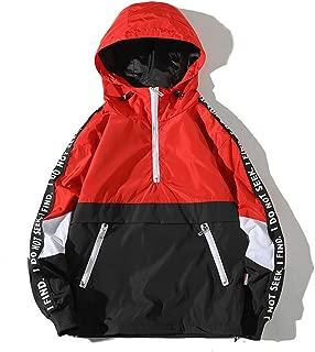Men's Fashion Pullover Hooded Waterproof Lightweight Windbreaker Jacket