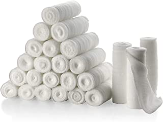 """Gauze Bandage Rolls - Pack or 24, 4"""" x 4 Yards Per Roll of Medical Grade Gauze Bandage and Stretch Bandage Wrapping for Dr..."""