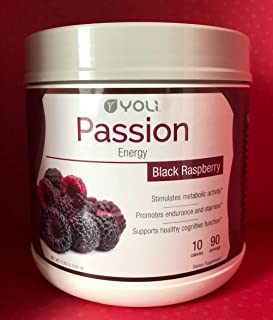 Yoli Passion Energy Drink - Black Raspberry Flavor - Canister