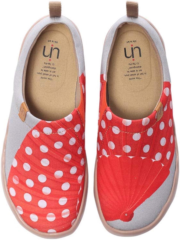 UIN Women's Felahikum's Dream Painted Travel Canva shoes Fashion Art Flat Loafer Sneaker s Slip-On Ladies Loafer
