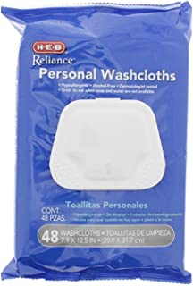 Pre-moistened Hypoallergenic Personal Adult Disposable Washcloths - 48 count
