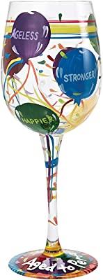 Lolita Aged to Perfection Wine Glass Hand Painted - Best Birthday Women, Best Friend, Sassy Girl, Fun Birthday Gifts