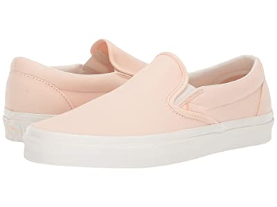 Vans Classic Slip-On ((Brushed Twill) Vanilla Cream/Snow White) Skate Shoes