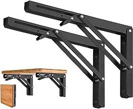 O'woda 2 stuks 300 mm klapconsole, zware belasting, maximaal draagvermogen 60 kg, klapplankhouders, plankdragers & -steune...