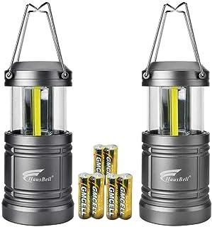 HAUSBELL Portable Lanterns with Magnetic Base, COB LED Camping Lantern Flashlights, Collapsible Flashlights - Survival Kit...