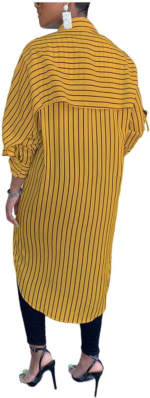 Wear to Work Casual Button Down Shirt Dress Striped Print Caped Midi Shirtdress