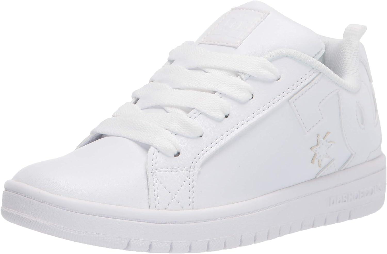 Max 56% OFF Our shop OFFers the best service DC Unisex-Child Court Graffik Skate Shoe